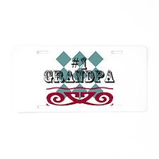 Number One Grandpa Aluminum License Plate