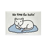 No Time for Hatin' Rectangle Magnet (100 pack)