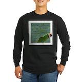 Military macaw Long Sleeve T-shirts (Dark)