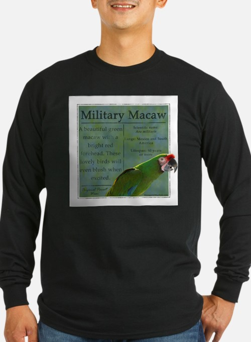 PW Military Macaw Long Sleeve T-Shirt