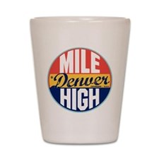 Denver Vintage Label Shot Glass