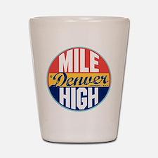 Denver Vintage Label Shot Glass