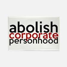 Abolish Corporate Personhood Rectangle Magnet