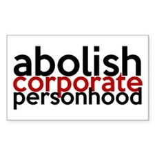 Abolish Corporate Personhood Decal