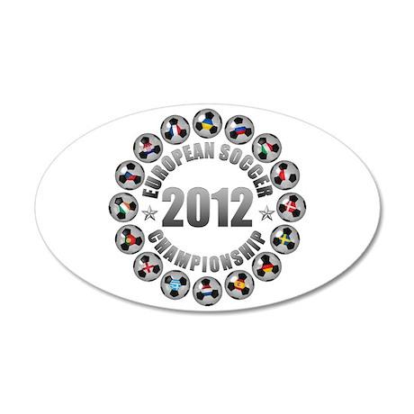 2012 European Soccer Championship 38.5 x 24.5 Oval