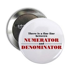 "Numerator and Denominator 2.25"" Button (10 pa"