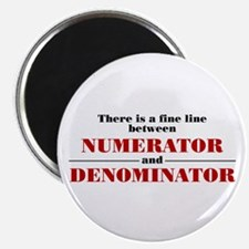 "Numerator and Denominator 2.25"" Magnet (10 pa"