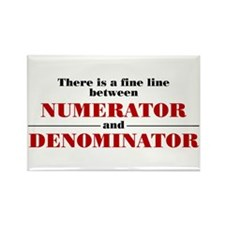 Numerator and Denominator Rectangle Magnet (10 pac