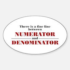Numerator and Denominator Decal