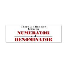 Numerator and Denominator Car Magnet 10 x 3