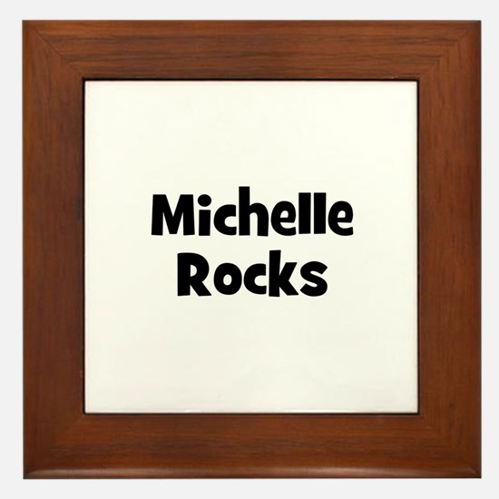Michelle Rocks Framed Tile