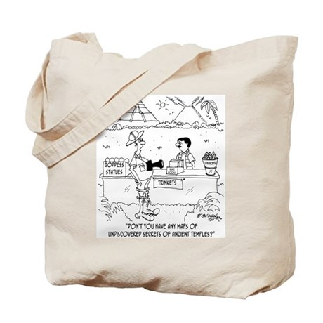 Map To Undiscovered Temples Tote Bag
