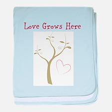 Love Grows Here Designs baby blanket