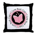 I Love Book Club Reading Throw Pillow