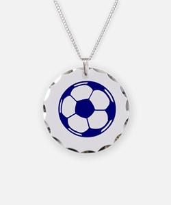 Blue Soccer Ball Necklace