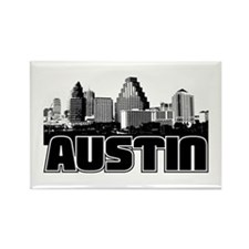 Austin Skyline Rectangle Magnet