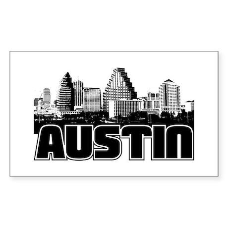 Austin Skyline Sticker (Rectangle)
