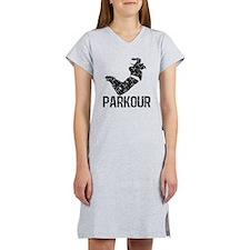 Parkour, Distressed Women's Nightshirt