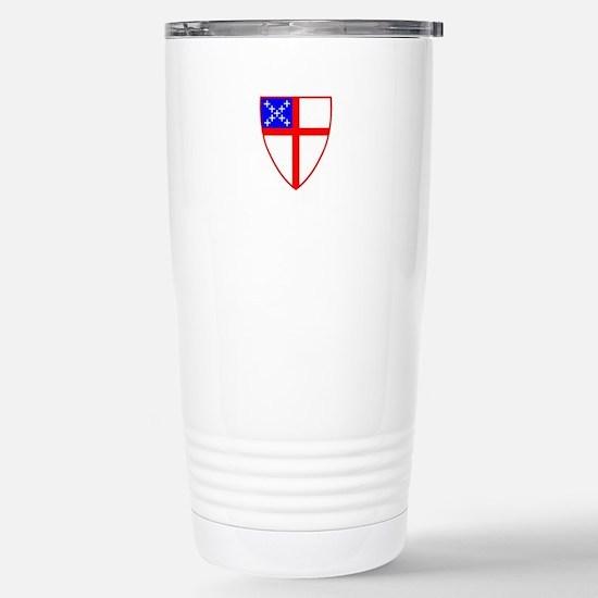 Episcopal Shield Stainless Steel Travel Mug