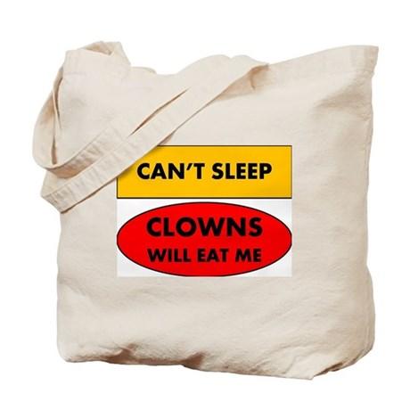 Can't Sleep Clowns Will Eat Me Tote Bag
