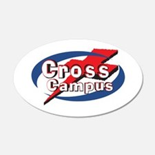 Cross Campus 22x14 Oval Wall Peel