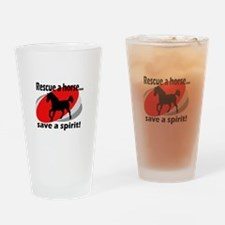 Rescue a Horse, Save a Spirit Drinking Glass