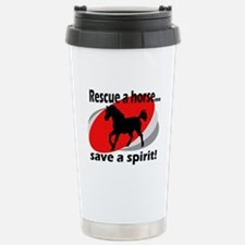 Rescue a Horse, Save a Spirit Stainless Steel Trav