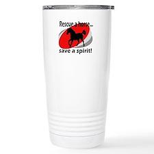 Rescue a Horse, Save a Spirit Travel Mug