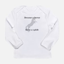 Rescue Grey Long Sleeve Infant T-Shirt