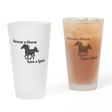 Rescue a Horse Drinking Glass