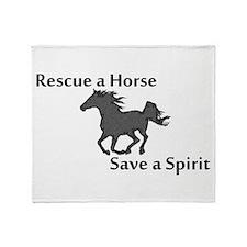 Rescue a Horse Throw Blanket