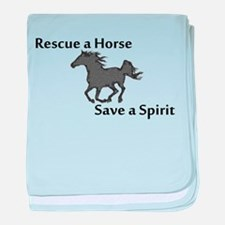 Rescue a Horse baby blanket