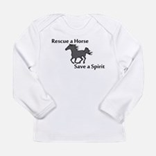 Rescue a Horse Long Sleeve Infant T-Shirt