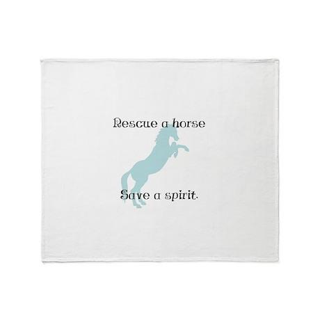 Rescue a horse... Throw Blanket
