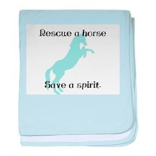 Rescue a horse... baby blanket