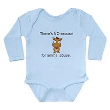 No Excuse Long Sleeve Infant Bodysuit