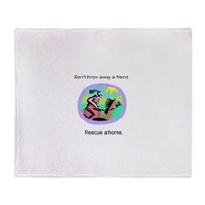Cute Equine rescue Throw Blanket