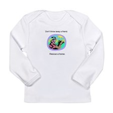 Unique Equine rescue Long Sleeve Infant T-Shirt