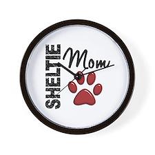 Sheltie Mom 2 Wall Clock