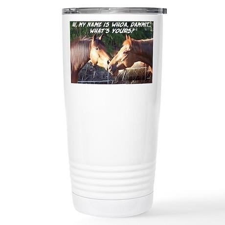 Whoa Dammit Stainless Steel Travel Mug