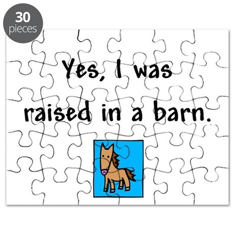 Raised in a Barn Puzzle