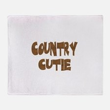 country cutie Throw Blanket