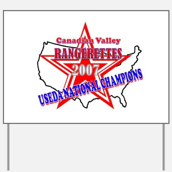 Champion Rangerettes Yard Sign