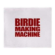 Birdie Making Machine Throw Blanket