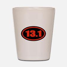 13.1 Half Marathon Oval Shot Glass