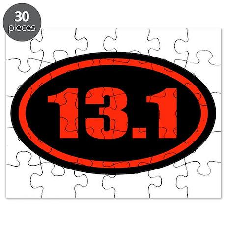 13.1 Half Marathon Oval Puzzle