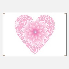 Pale Lotus Heart Banner
