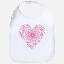 Pale Lotus Heart Bib