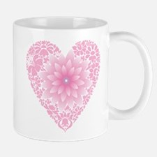 Pale Lotus Heart Mug