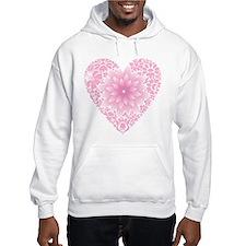 Pale Lotus Heart Hoodie